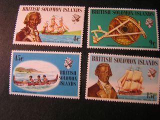 Solomon Islands,  Scott 228 - 231 (4),  1972 Famous Explorers Issues photo
