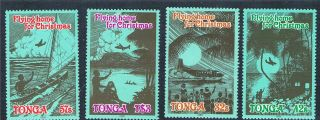 Tonga 1989 Christmas Flying Home Sg 1059/62 photo
