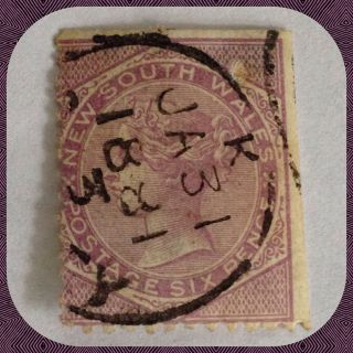 South Wales 6d Violet Circa 1881 Cds Good Example As Per Scans photo