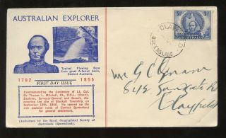 Australia 1946 Mitchell 3 1/2d Illust.  Fdc Rgsa Cover Queensland Pmk Clayfield photo