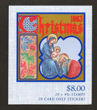 Australia Scott 1354a Complete Booklet - Christmas 1993 photo