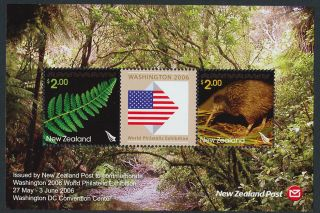 Zealand 2070 Kiwi,  Fern Leaf,  Flag photo