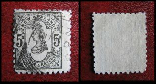 Zealand 1882 Second Side Face 5d Grey photo