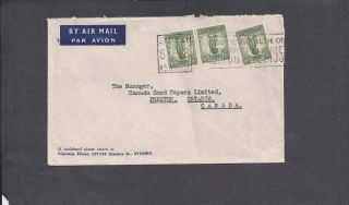 1951 Sydney,  Australia To Preston,  Ontario,  Canada - Mlti Franked 1sh Lyrebird photo