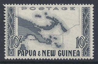 Papua Guinea 1952 10/ - Map Fine Mnh/muh photo