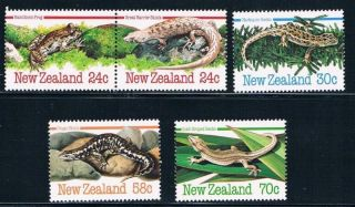 Zealand - 1984 Indigenous Lizards Reptiles - Sc 803 - 807 [sg 1340 - 4] - photo