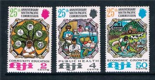Fiji 1972 25th Anniv.  S.  Pacific Commission Sg 454/6 photo