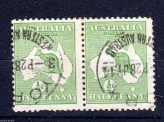 Australia.  Sg1.  Pair.  Cat £15.  00. photo