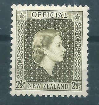 1963 Zealand - Official Issue Queen Elizabeth 2 1/2 P.  Og photo