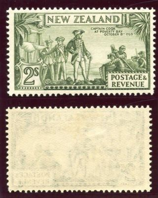 Zealand 1936 Kgvi 2s Olive - Green Perf 13 - 14x13½