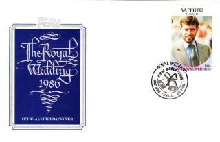 First Day Cover - Royal Wedding - 1986 - Vaitupu - Tivalu - Prince Andrew photo