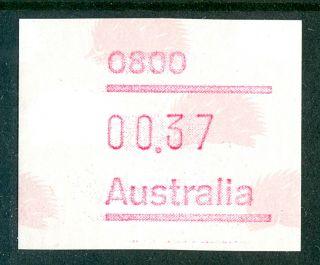 Australia 1988 Stamp Frama Label Anteater M/c 0800 Um (nh) photo