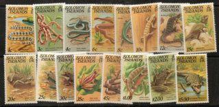 Solomon Islands Sg388a/403a 1979 Reptiles photo
