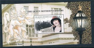 Fiji 1999 Queen Mother ' S Century Sg Ms 1063 photo