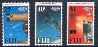 Fiji 1986 Appearance Of Halley ' S Comet Sg 738/40 photo