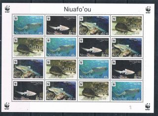 Niuafo ' Ou 2012 Wwf Sharks Sheet Issue photo