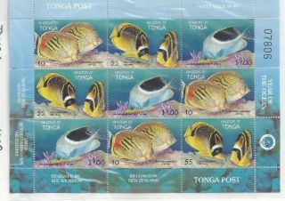 Tonga 1008 S/s Of 9 photo