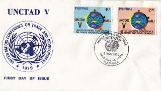 United Nations 1979 Unctad V First Day Cover Philippines Shs photo