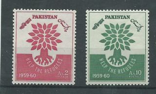 Pakistan - 1960 - Sg112 & Sg113 - Cv £ 0.  50 - Mounted photo