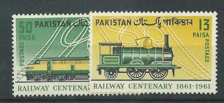 Pakistan - 1961 - Sg153 & Sg154 - Cv £ 1.  75 - Mounted photo