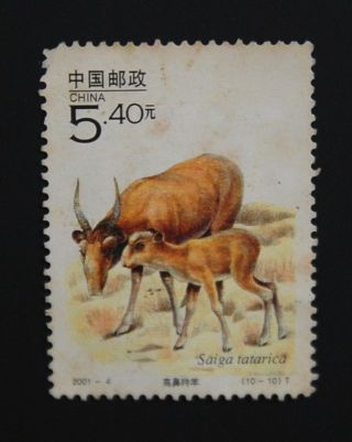 China Stamp Prc 2001 - 4 Saiga Tatarica photo