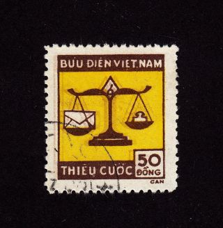 North Viet Nam Scott J14 Used/cto - Postage Due - Triple Impression photo