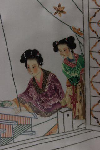 Vintage Japanese Stamp Collage Art 16 1/2x12 1/2