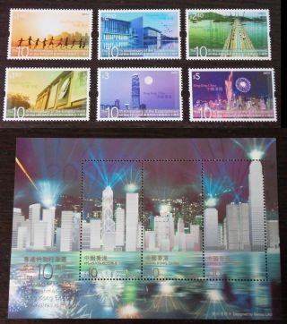 2007 China Hong Kong 10th Anni.  Of The Estab.  Of Hksar Stamp + Sheetlet photo