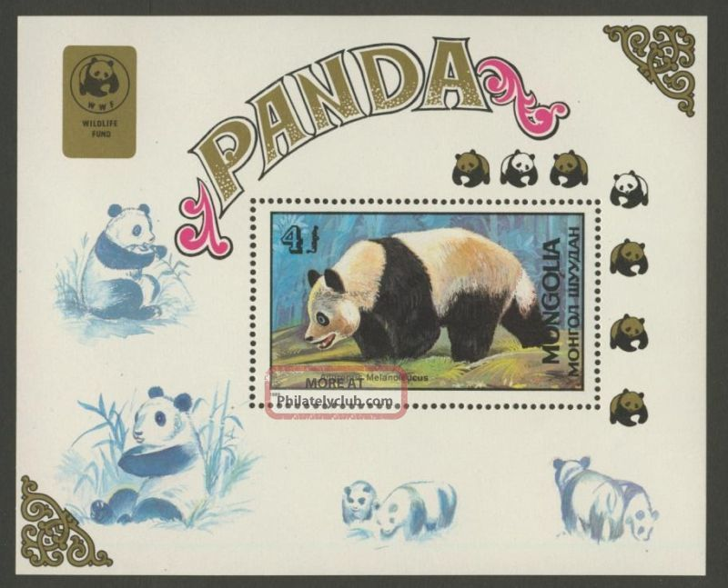 Mongolia 1776 Panda Bear,  Wwf Asia photo
