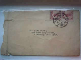 The Republic Of China Post To Go To America To The Old Envelope photo