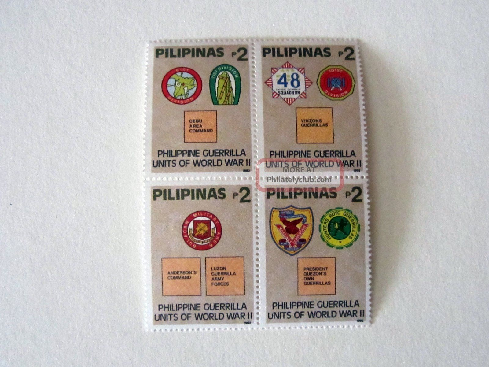 Philippines Pilipinas Guerrilla Units Of Wwii 1992 Stamp Asia photo