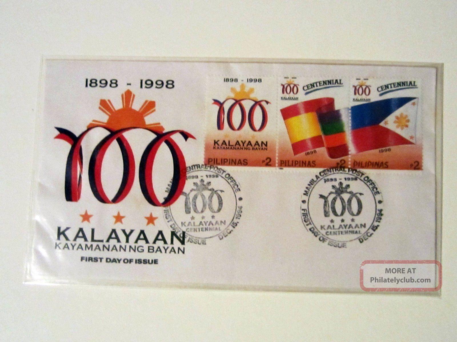 Philippines Pilipinas 1994 Kalayaan Centennial Fdc Asia photo