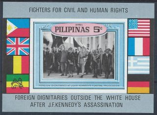 Philippines J F Kennedy Assassination Mini Sheet A 004 photo