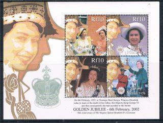 Maldives 2002 Queen ' S Golden Jubilee Sg 3710 - 3 photo