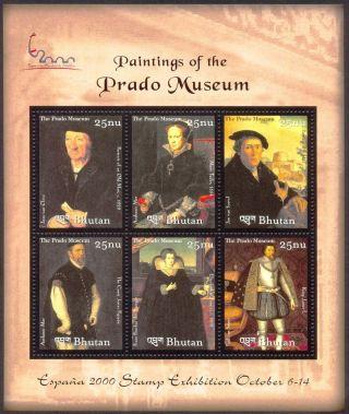 Bhutan 2000 Famous Paintings Prado Museum Espana2000 Exhb 6 Ss Titian Goya photo