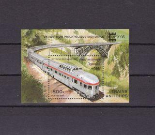 Cambodia 1513 Trains S/s photo