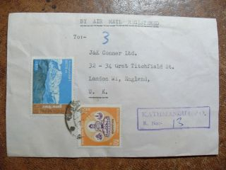 Registered Army Cover From Kathmando Nepal To London Uk. photo