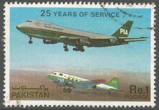 Pakistan.  1980 25th Anniv Of Pakistan International Airlines.  1r.  A8145 photo
