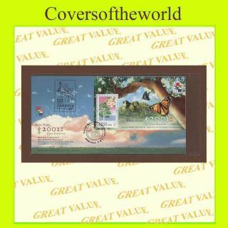 Hong Kong 2001 Stamp Exhibition Sheetlet,  Series 8,  5.  2.  01,  Stamp Cancel photo