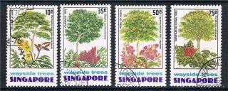 Singapore 1976 Wayside Trees Sg 268/71 Cto photo