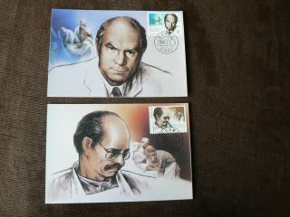 2 X 1990 China Maximum Cards: Norman Bethune In Canada photo