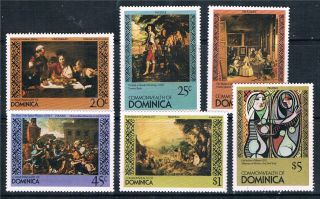 Dominica 1980 Famous Paintings Sg 715/20 photo