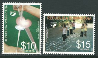 Dominican Republic 2009 - America Issue Toys And Games Children - Sc 1476/7 photo