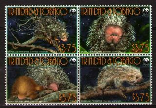Trinidad & Tobago 2008 Mi955 - 58 5.  20 Mieu 1 Block Wwf - Animals photo