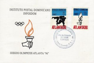Dominican 1996 Summer Olympic Games Atlanta Sc 1224 - 5 Fdc photo