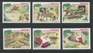 Dominica 706 - 711 Disney Christmas 1981,  Santa ' S Workshop photo