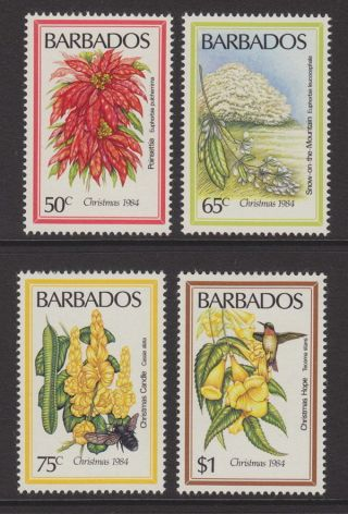 Barbados - 1984 Christmas Flowers (4v) Umm / photo