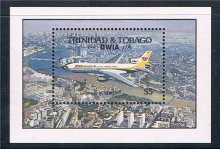 Trinidad & Tobago 1990 B.  W.  I.  Airways Ms Sg 786 photo