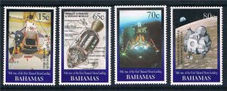 Bahamas 1999 Anniv.  Of Moon Landing Sg1179/82 photo