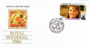 First Day Cover - Royal Wedding - 1986 - Union Island - Sarah Ferguson photo